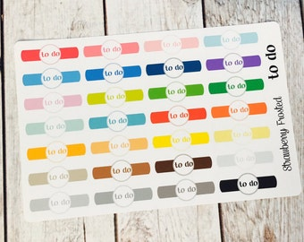 TO-DO Headers Planner Stickers - Made to fit Vertical or Horizontal Layout