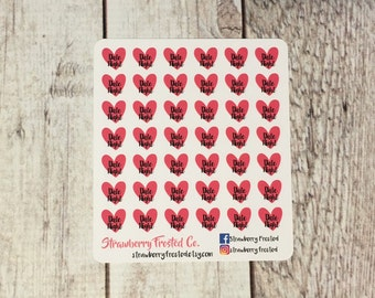 MINI SIZE Date Night Stickers-Planners//Personal Size  Planner