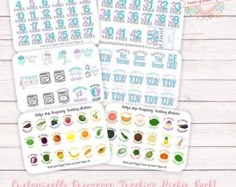 Weekly Pregnancy Tracker Stickers - Pregnancy Stickers- Pregnancy Planner Stickers - Pregnancy Tracking Stickers - Baby Planner Stickers -