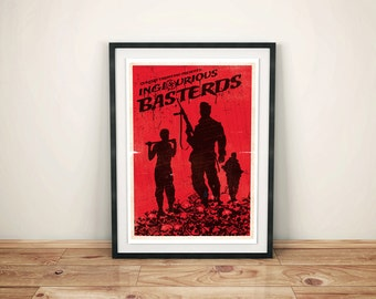 Alternative inglourious basterds world war movie quentin tarantino film wall art home decor geek poster art print