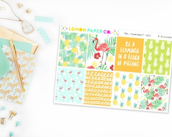 Oh, Flamingo! // Full Boxes (Planner Stickers for Erin Condren Vertical and MAMBI The Happy Planner)