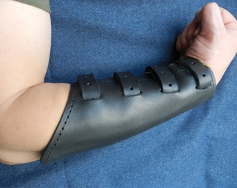 Leather Bracer - Handmade Leather Bracelet Cuff
