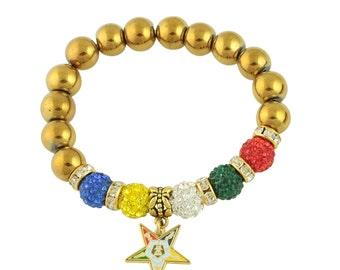 Order of the Eastern Star Charm Bracelet