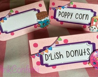 Shopkins Inspired Food Tents