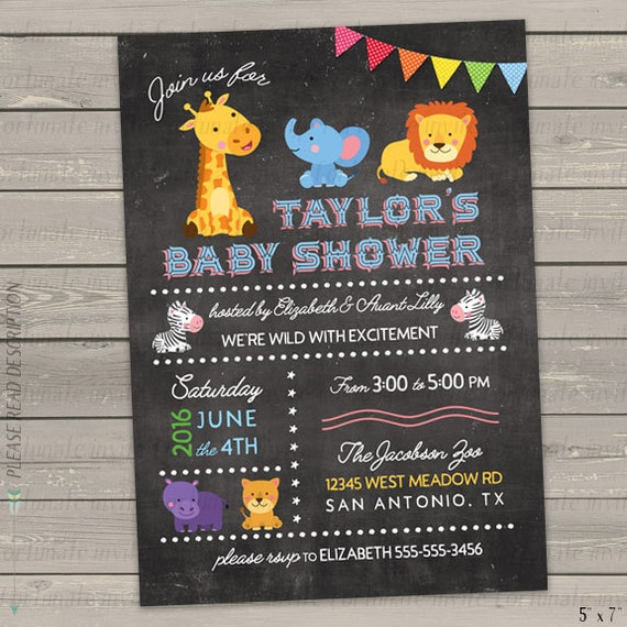 zoo animal baby shower invitations jungle animal baby shower invites