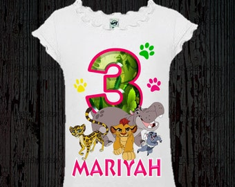 Lion Guard Birthday Shirt - Girl's Lion Guard Birthday Shirt - Different Colors Available