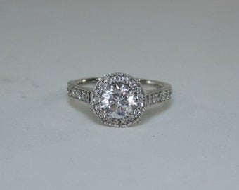 Vintage Sterling Silver White Gemstone with Accents Ring Size 6.5