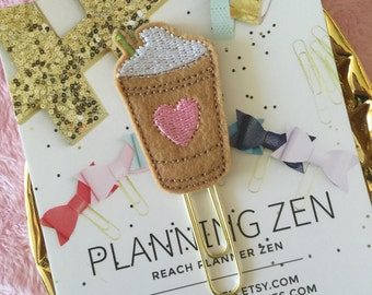 Frappuccino Coffee Cup Planner Clip