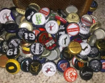 Mixed Lot of 50 Craft, Import, and Domestic Beer Bottle Caps DIY/Crafting