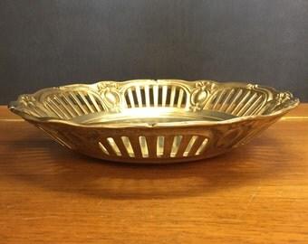 Brass bowl, fruit bowl, vintage, 60s