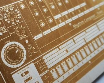 TR-808 - Wood printed - Drum Machine