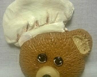 Handpainted Chef Bear