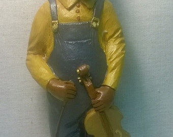 "Handpainted ""Fiddle Man"" Figurine"