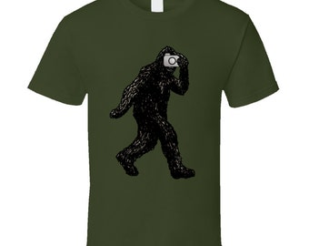 Bigfoot With Camera T Shirt
