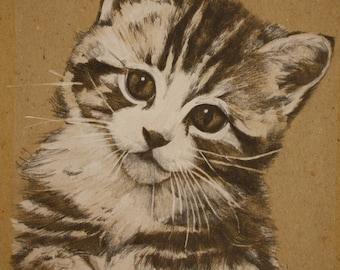 Personalized portrait CAT GATTO