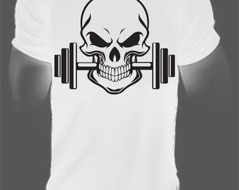 gym skull,skull,skull shirt,skull t-shirt,skull tshirt,skull t,skull tee,skull fitness,skull top,mens skull shirt,cool gym shirt,cool shirt
