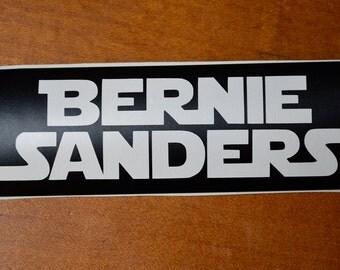 "Bernie Sanders Star Wars Style Vinyl Sticker 4.5"" x 1.5"" or 9"" x 3"" Bumper"