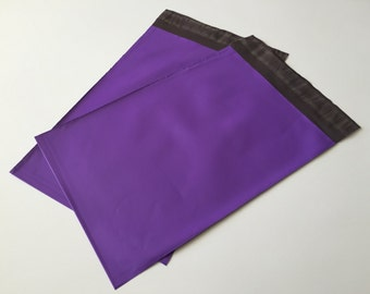 50  7.5 x 10.5  PURPLE Poly Mailers  Self Sealing Envelopes Shipping Bags Easter Spring