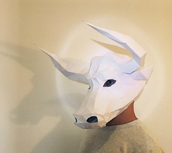 Make Your Minotaur Bull Mask From Paper Pdf Pattern Mask