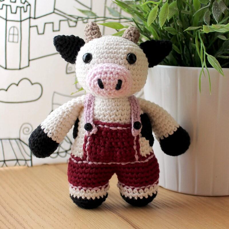 Cow Animalius. Amigurumi Pattern PDF Farm Animal Toy