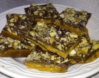 Homemade English Toffee Crunch Bars