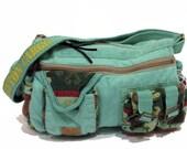 Vintage Cross-Body Bag, Shoulder Bag - Old Cotton Cargo