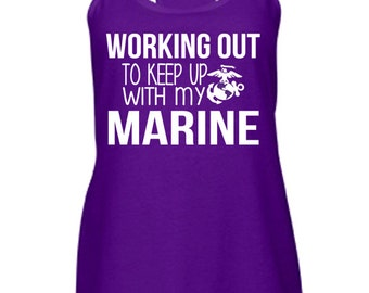 Working Out To Keep Up Tank. Army Air Force Marine Corps Navy Coast Guard. Deployment Milso wife fiance girlfriend. Veteran Hero Soldier