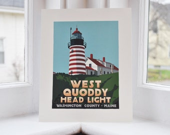 West Quoddy Head Light 8x10 print  © Alan Claude