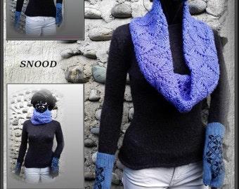 SNOOD scarf in wool ANNY BLATT hand made in France