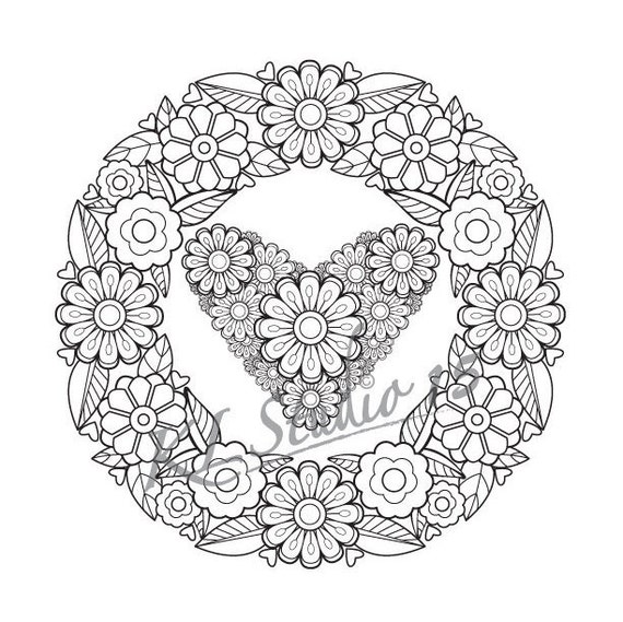 Therapeutic Mandala Coloring Pages