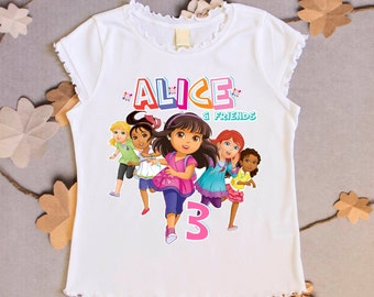 Dora and Friends Birthday shirt