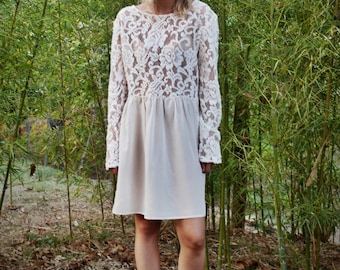 smock dress long sleeve