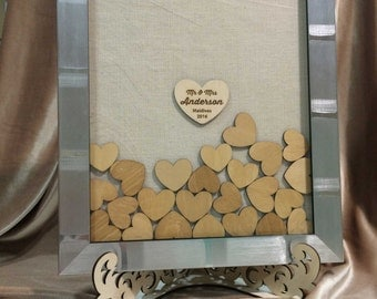 Custom Alternative Wedding Guest Book Frame Drop Box