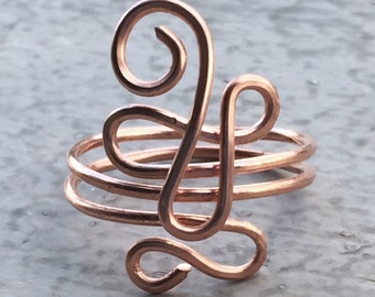 Copper wire ring-copper ring-wire ring-wire jewelry-copperjewelry