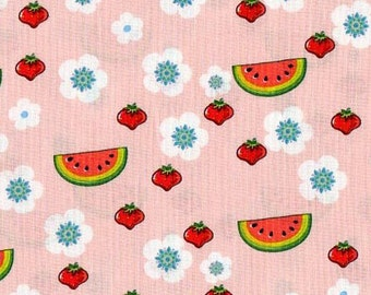 Forest Friends - 1 yd - Camelot Cottons - Watermelon