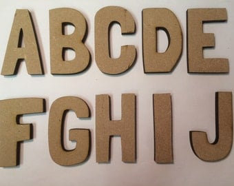 Cute Wooden Letters (MDF)