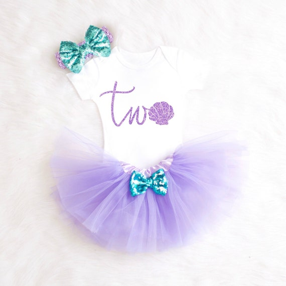 Mermaid 2nd Birthday Outfit Mermaid By KennedyClairesCloset