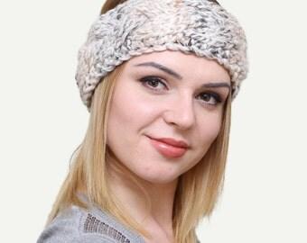 Knit Headband, Knitted Headband, Cable Knit Headband, Oatmeal   Headband, Headbands, Fall Winter Fashion Accessories Hair Accessories