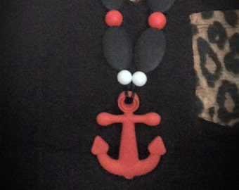 Anchor Teething/Nursing Necklace