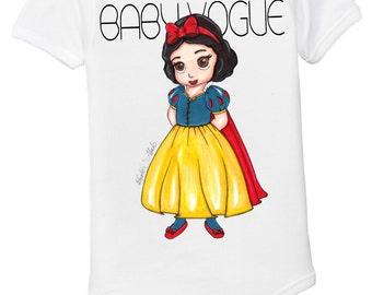 Snow White baby girl onesie