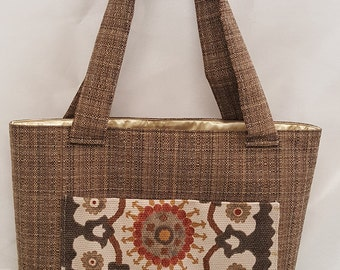 Sunburst Print Tote Bag