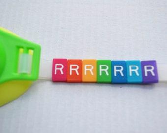 R Letter Tile - Swim Goggle Accessory