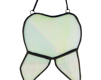 Tooth Suncatcher, Stained Glass Molar