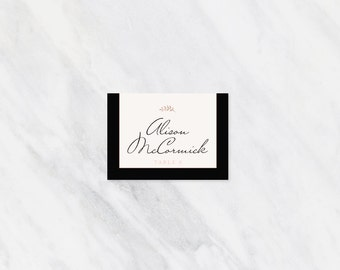 Printed Place Cards -  Wedding Suite -  cherry blossom -  printed set -  formal