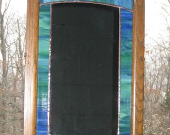 Mirror, Stained Glass, Antique Frame