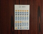 cute weather stickers - planner accessories - locally printed and hand cut