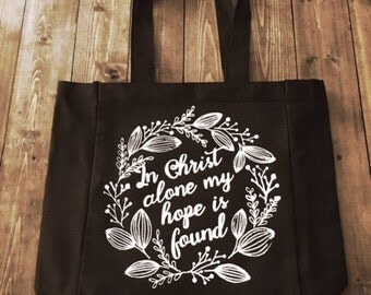 In Christ Alone Tote Bag