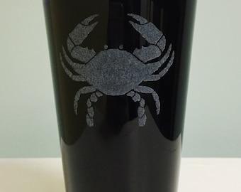 Crab 16 oz Cobalt Blue Pint Glass