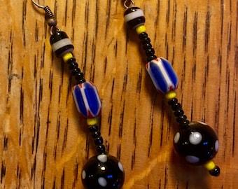 Ghanaian bead earrings