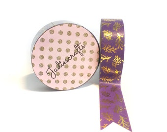 Intracloud Lightning Washi Tape  | Purple and Gold Foil